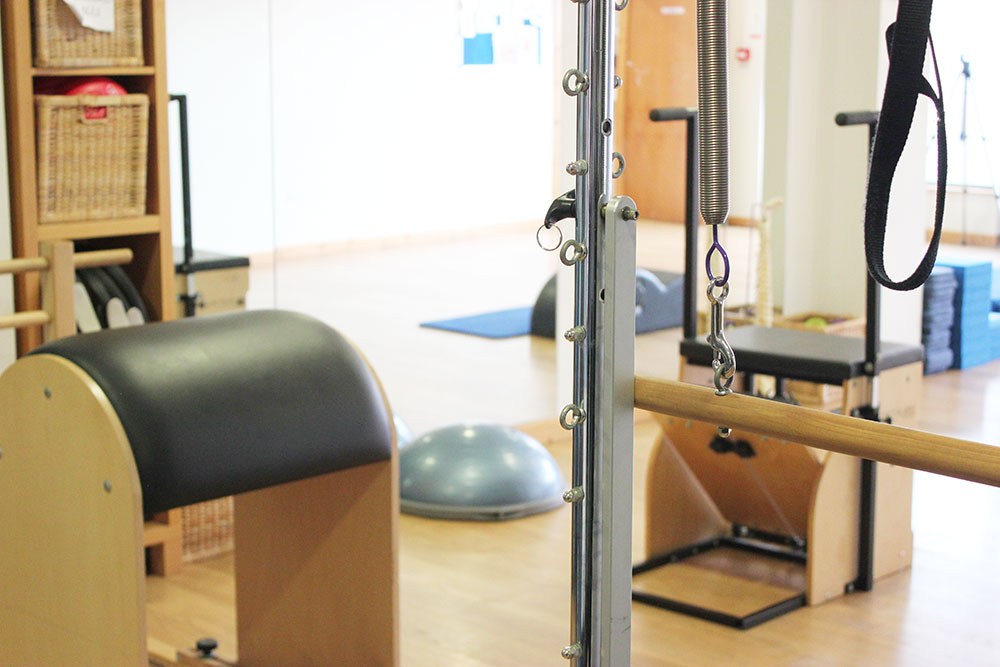 Pilates Reformer and other equipment in our Belfast Pilates Studio