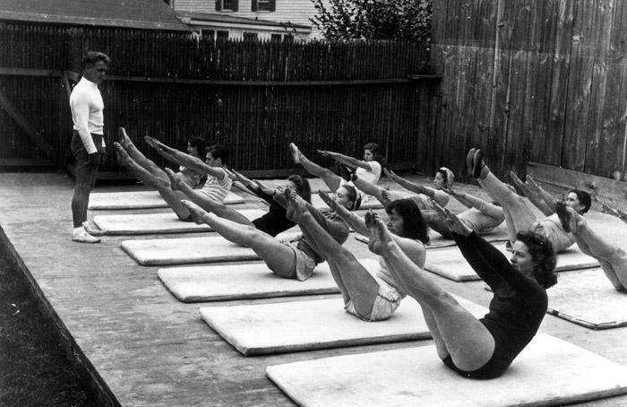 Joseph Pilates takes an outdoor class. Photo by Eric Sanford, courtesy Jacob's Pillow