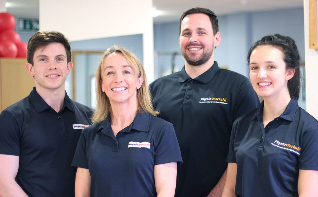 Out team of Physiotherapists at PhysioWorks Belfast